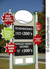 New Development Sign - New Real-Estate Development Sign