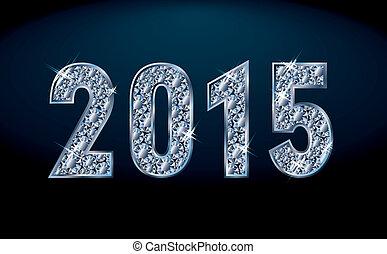 New diamond 2015 year, vector