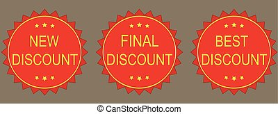 New discount, final discount, best discount