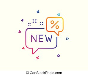 New discount line icon. Sale shopping sign. Vector