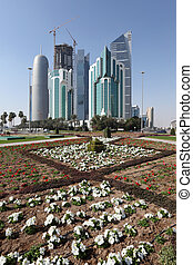 New downtown district West Bay in Doha, Qatar