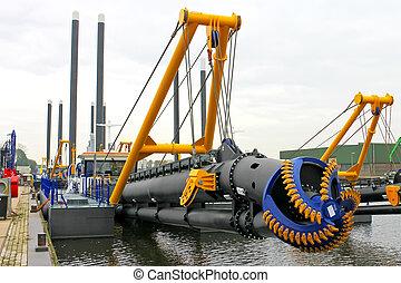 New dredge ship in the Dutch shipyard