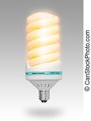New eco energy saving concept on gray background