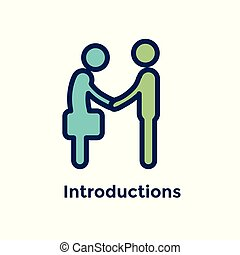 New Employee Hiring Process icon with 2 people shaking hands...