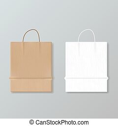New Empty Paper Shopping Bag For Advertising And Branding
