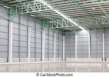 New empty warehouse for customer rent