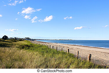 New England Beach - A Cape Cod, MA, New England beach lying ...