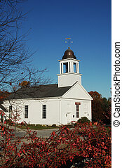 New England Church - New England country church in Maine...