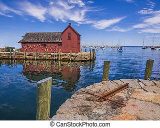 New England fishing shack