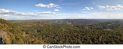New England Panorama - A gorgeous panoramic view of the fall...