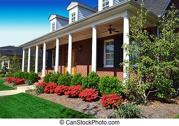 New England Style Brick House