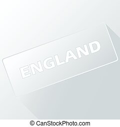 New England unique button for any design. Vector...