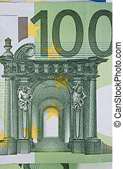 euro banknotes - New euro banknotes as a background,...