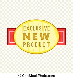 New exclusive product label icon, cartoon style