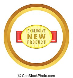 New exclusive product label vector icon