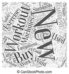 new exercise equipment Word Cloud Concept