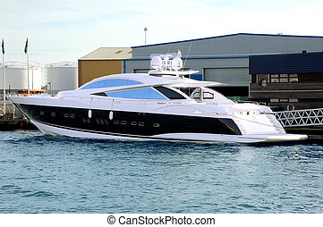 New expensive yacht - Expensive new yacht moored on Quayside...