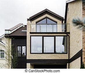 New fiberglass windows for apartments, city style