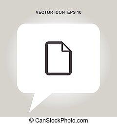new file vector icon