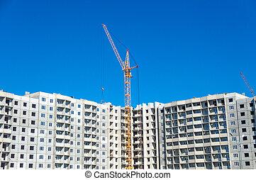 New flats and hoisting crane