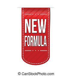 New formula banner design over a white background, vector...