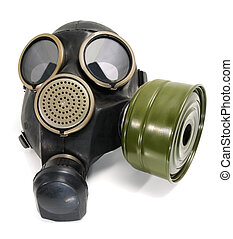 gas mask - New gas mask on a white background.