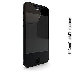 new generation smartphone - 3d render of a new generation...
