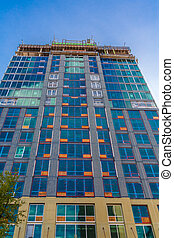 New Glass Tower Construction