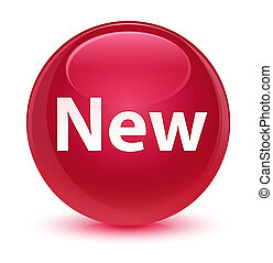 New glassy pink round button