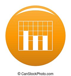 New graph icon orange