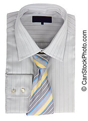 New gray shirt and tie