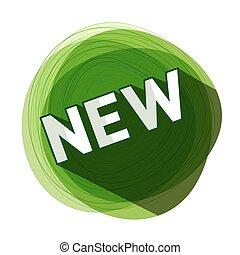 New Green Label. Vector.