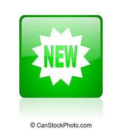 new green square web glossy icon