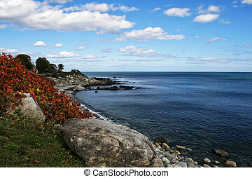 New Hampshire Coastline - The rocky coastline of the state...