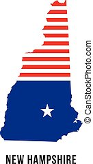 New Hampshire patriot flag map logo
