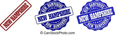 NEW HAMPSHIRE Scratched Stamp Seals
