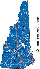New Hampshire state political map - Detailed map of New ...