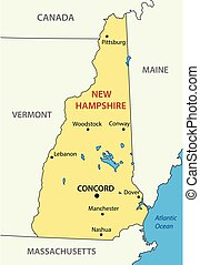 New Hampshire - vector - state of USA