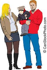 New happy family