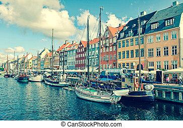 New harbour - Copenhagen, Denmark - COPENHAGEN, DENMARK - ...