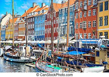 New harbour - Copenhagen, Denmark - COPENHAGEN, DENMARK -...
