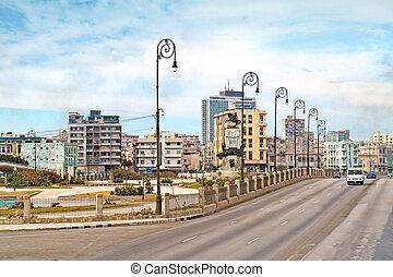 New Havana from Avenida 5ta street, Havana, Cuba
