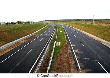 Digital photo of an emty new highway taken in europe