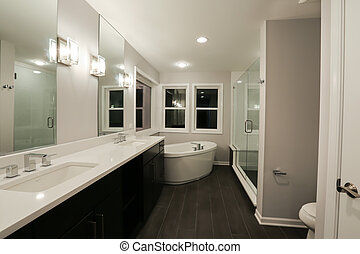 New Home Bathroom - Image of interior detail of a new home...