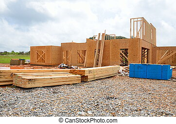 new home be constructed - New home being constructed at...