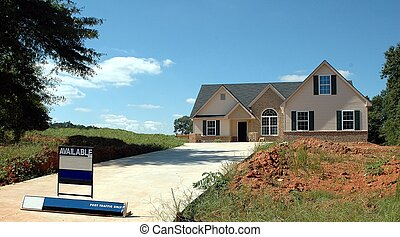 New Home Building - Photographed home being constructed in...