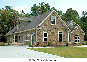 New Home Building - Photographed new home building at...