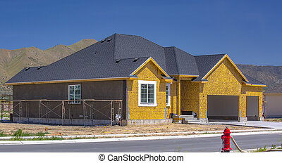 New home construction in Utah Valley