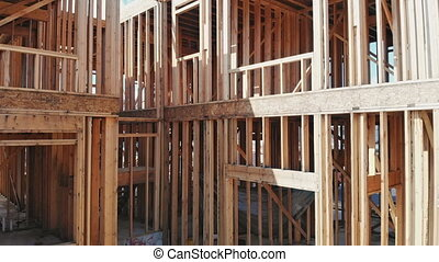 New home construction on timber frame a new development...