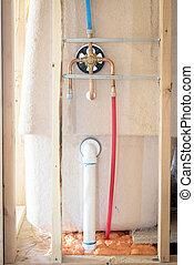 New home construction shower details